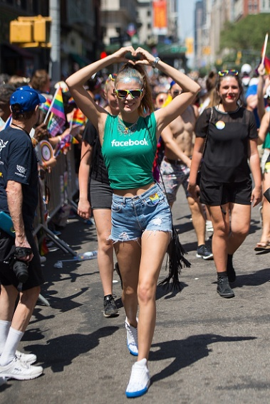 NEW YORK, NY - JUNE 26: Model Josephine Skriver attends the 2016 Pride March on June 26, 2016 in New York City. (Photo by Michael Stewart/Getty Images)