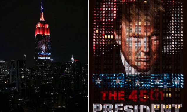 Election night, New York, USA - 08 Nov 2016